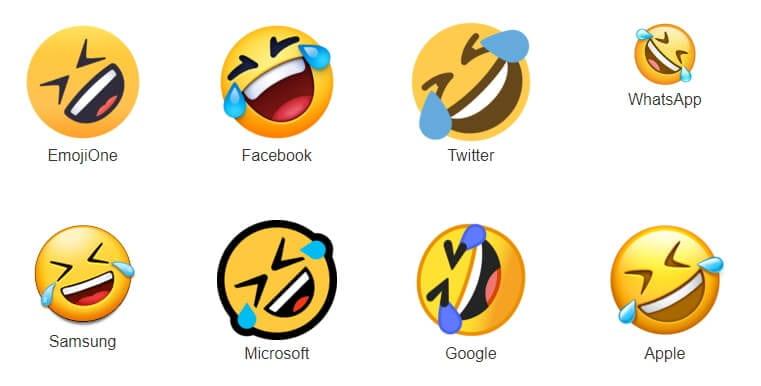 Emoji Berbeda