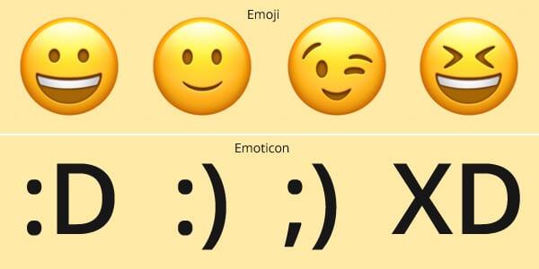Perbedaan Emoji dan Emoticon