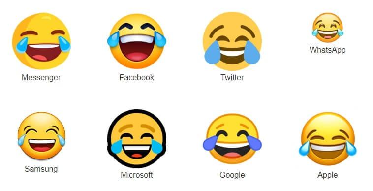 Perbedaan Emoji