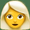 Wanita Berambut Putih Apple