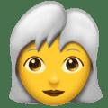 Wanita Berambut Putih Emojipedia