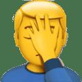 Orang dengan Gestur Facepalm Apple