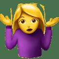 Wanita Mengangkat Bahu Apple