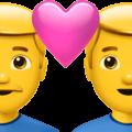 Pasangan dengan Hati Pria Pria Apple