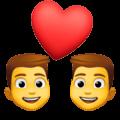 Pasangan dengan Hati Pria Pria Facebook