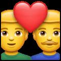 Pasangan dengan Hati Pria Pria WhatsApp