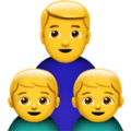👨👦👦 Keluarga Laki Laki Anak Laki Laki Anak Laki Laki Apple