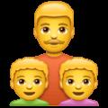 👨👦👦 Keluarga Laki Laki Anak Laki Laki Anak Laki Laki WhatsApp