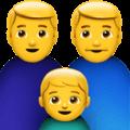 Keluarga Pria Pria Anak Laki Laki Apple