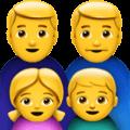 Keluarga Pria Pria Anak Perempuan Anak Laki Laki Apple 1