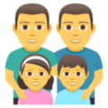 Keluarga Pria Pria Anak Perempuan Anak Laki Laki JoyPixels 1