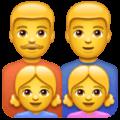 Keluarga Pria Pria Anak Perempuan Anak Perempuan WhatsApp