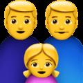 Keluarga Pria Pria Anak Perempuan Apple
