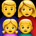 Keluarga Laki Laki Perempuan Anak Perempuan Anak Laki Laki Apple