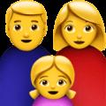 Keluarga Pria Wanita Anak Perempuan Apple