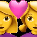 Pasangan dengan Hati Wanita Wanita Apple