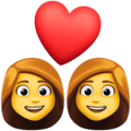 Pasangan dengan Hati Wanita Wanita Facebook