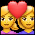 Pasangan dengan Hati Wanita Wanita WhatsApp