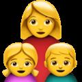 👩👧👦 Keluarga Perempuan Anak Perempuan Anak Laki Laki Apple
