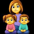 👩👧👦 Keluarga Perempuan Anak Perempuan Anak Laki Laki Facebook