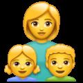 👩👧👦 Keluarga Perempuan Anak Perempuan Anak Laki Laki WhatsApp