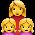 Keluarga Perempuan Anak Perempuan Anak Perempuan Apple