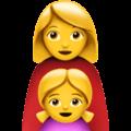 Keluarga Perempuan Anak Perempuan Apple
