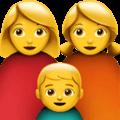 👩👩👦 Keluarga Perempuan Perempuan Anak Laki Laki Apple