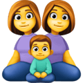 👩👩👦 Keluarga Perempuan Perempuan Anak Laki Laki Facebook