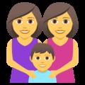 👩👩👦 Keluarga Perempuan Perempuan Anak Laki Laki