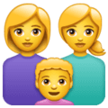 👩👩👦 Keluarga Perempuan Perempuan Anak Laki Laki WhatsApp