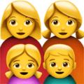 Keluarga Perempuan Perempuan Anak Perempuan Anak Laki Laki Apple