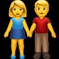 Laki Laki dan Perempuan Berpegangan Tangan Apple