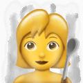 Wanita di Kamar Sauna Emojipedia