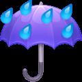 Payung dengan Tetesan Hujan Facebook