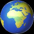 🌍 Globe Menampilkan Eropa Afrika Apple