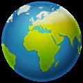 🌍 Globe Menampilkan Eropa Afrika WhatsApp