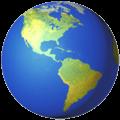 Globe Menampilkan Amerika Apple