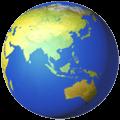 Globe Menampilkan Asia Australia Apple