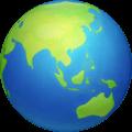 Globe Menampilkan Asia Australia Facebook