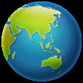 Globe Menampilkan Asia Australia WhatsApp