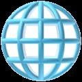 Globe dengan Meridian Apple