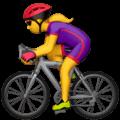 Wanita Bersepeda Apple