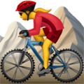 Wanita Naik Sepeda Gunung Apple