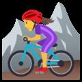 Wanita Naik Sepeda Gunung