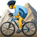 Pria Naik Sepeda Gunung Apple