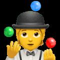 Orang Juggling Apple