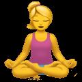 🧘♀️ Wanita dalam Posisi Lotus Apple
