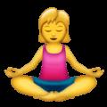 Wanita dalam Posisi Lotus Emojipedia