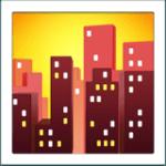 🌆 Pemandangan Kota Saat Senja Apple